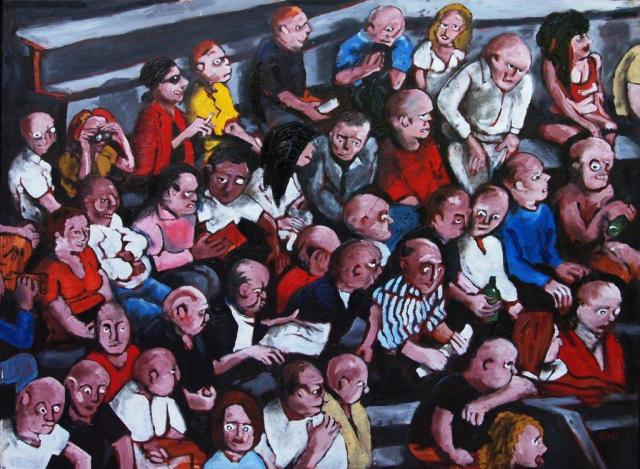Karl Grietl, The Spectators, 2010, 81 x 100 cm, oil on canvas