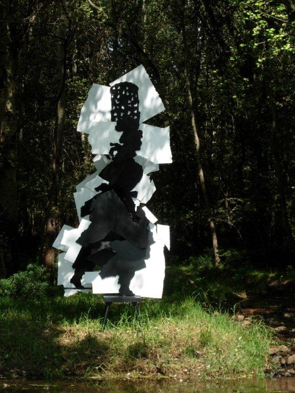 William Kentridge and Gerhard Marx, Fire Walker, 2009, painted steel Edition 1/4 370 x 175 x 204