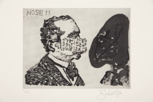 William Kentridge, Nose 11, 2008, from The 'Nose' Series, etching, edition size 50, 14.7 x 19.9 cm