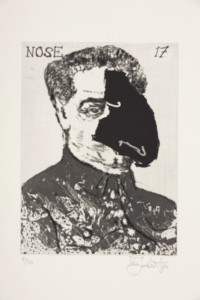 William Kentridge, Nose 17, 2009, from The 'Nose' Series, etching, edition size 50, 19.9 x 14.6 cm