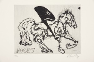 William Kentridge, Nose 7, 2009, from The 'Nose' Series, etching, edition size 50, 19.9 x 14.6 cm