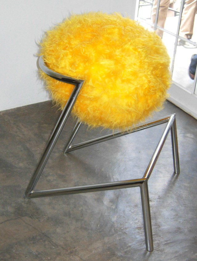 Veuve Clicqout. Yellow By Design. Tsai Design Studio Signature Chair  by Tsai Design Studio