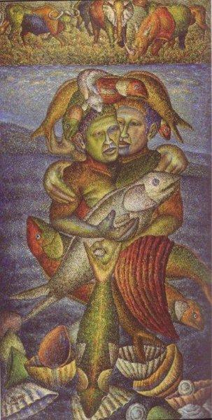 Mmakgabo Helen Sebidi, Untitled, 1999−2001. Oil on canvas. 203 x 101 cm. Private Collection