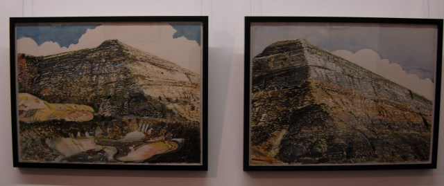 Alan Crump, Mine Dump and Slime Pool, 1992, and Eroded Mine, 1993.