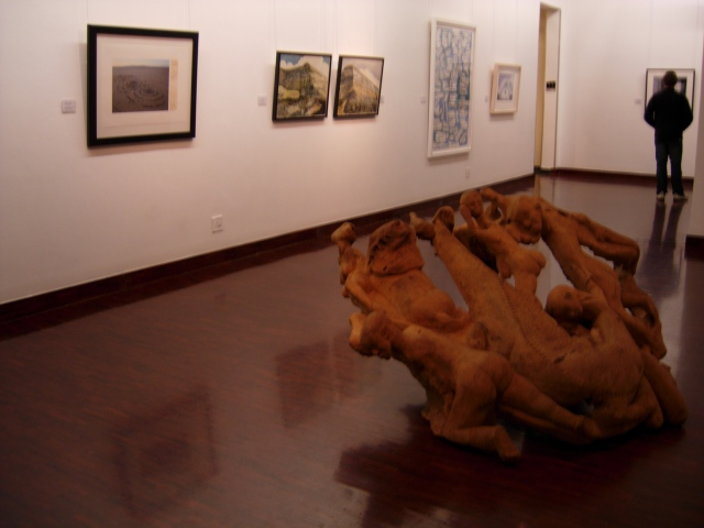 Noria Mabasa, Carnage II, 1988 (foreground)