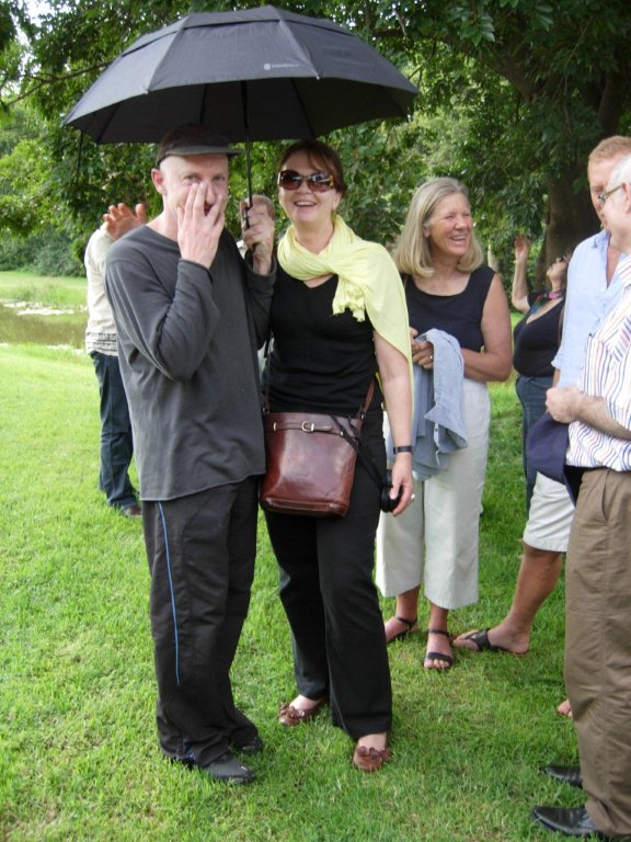 A chance meeting at Nirox, Cradle of Humankind, Steven Cohen and Marion Dixon