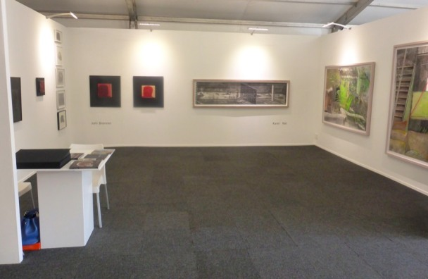 Karel Nel and Joni Brenner at Cape Town Art Fair 2015.
